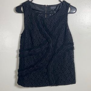 Topshop Sheer Black Sleeveless Blouse